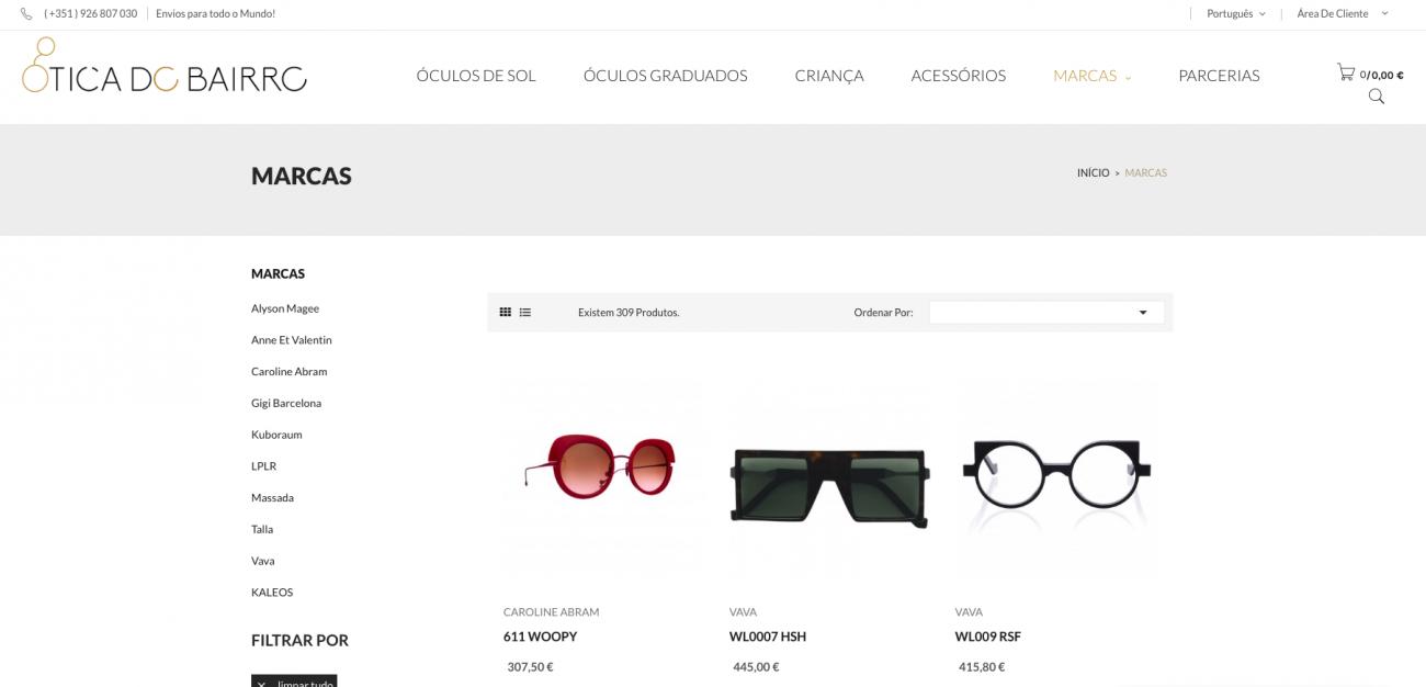 Especialistas em sites de óticas e acessórios com vendas online