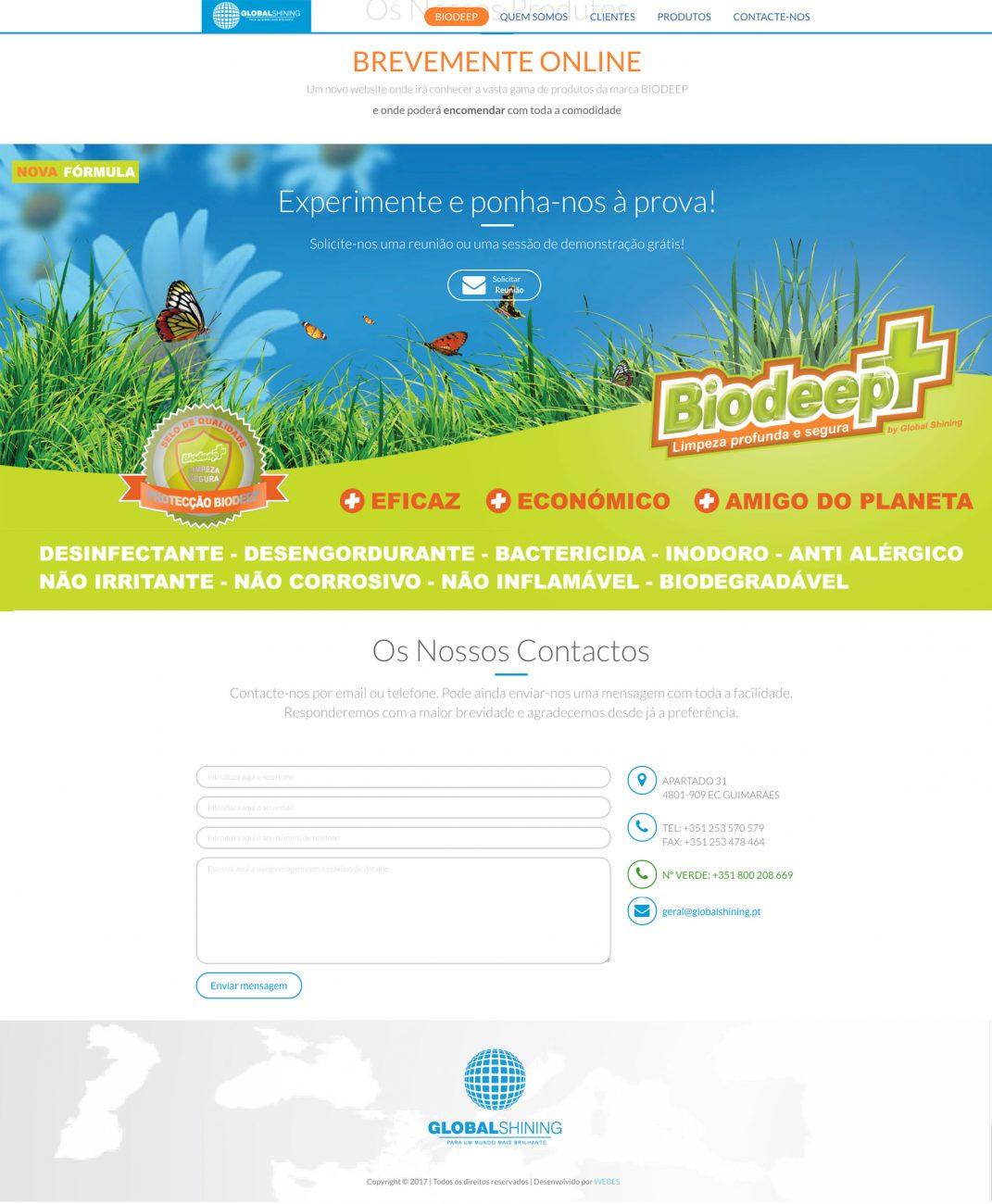 Especialistas em sites de produtos de limpeza como a BIODEEP