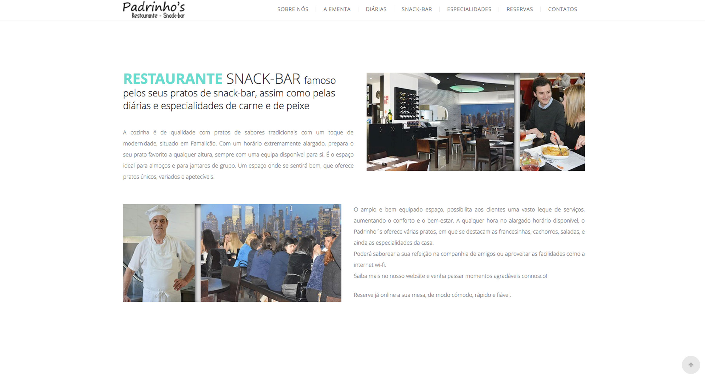 Especialistas em sites para restaurantes e snack-bar