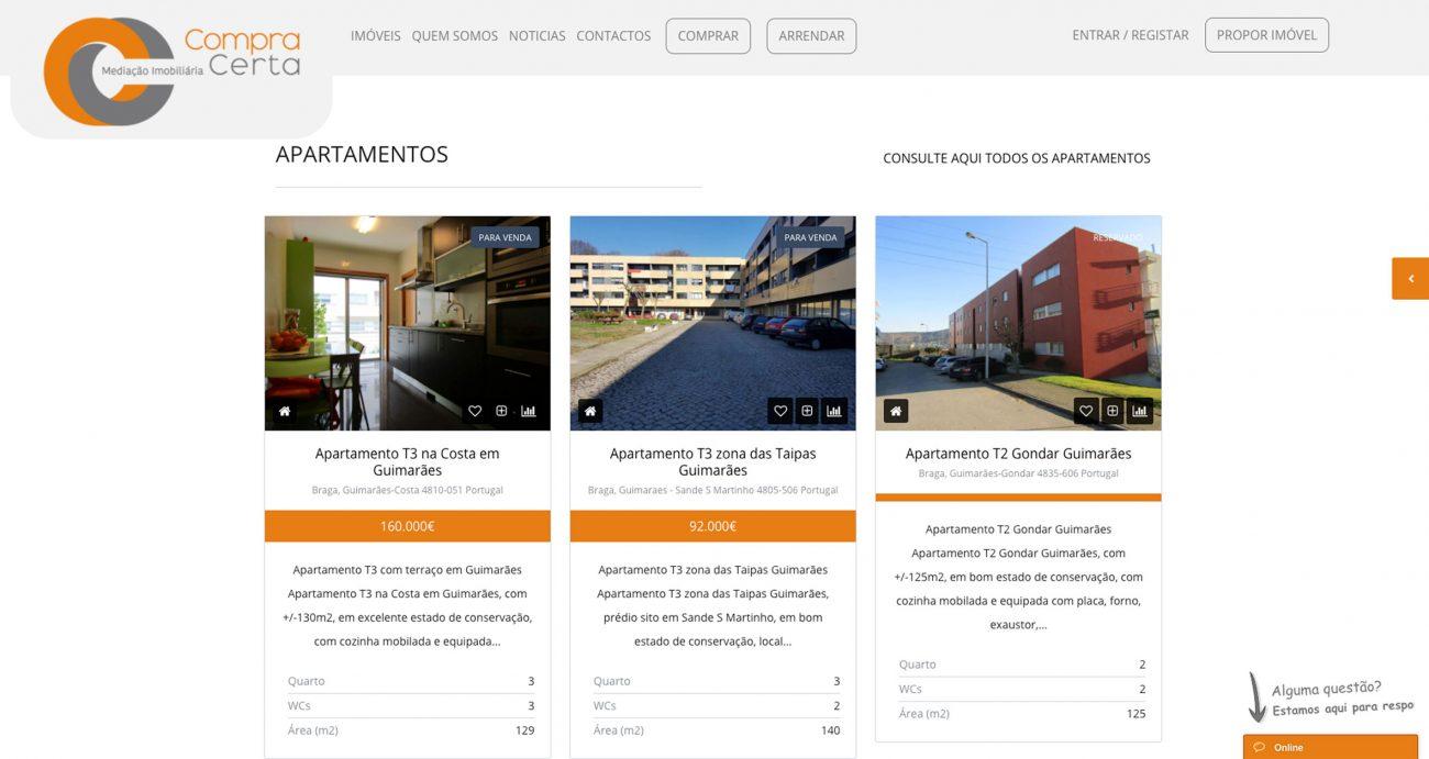 Sites para imobiliárias e mediação imobiliária de imóveis