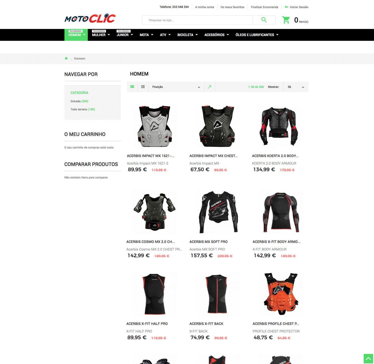 Especialistas em sites de motas e acessórios com vendas online