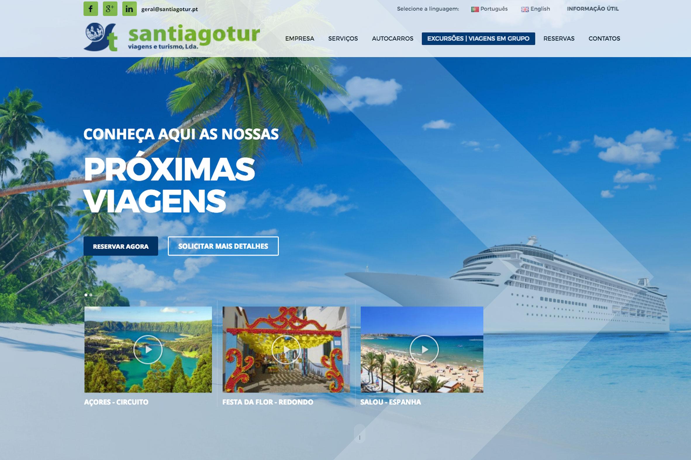 Especialistas em sites para agências de viagens e turismo