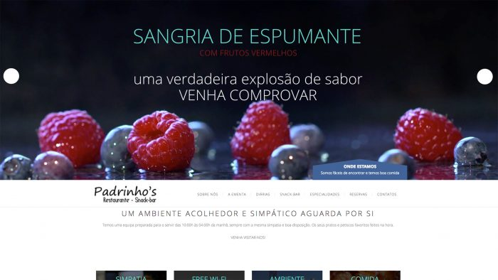 Especialistas em sites para restaurantes e snack-bar