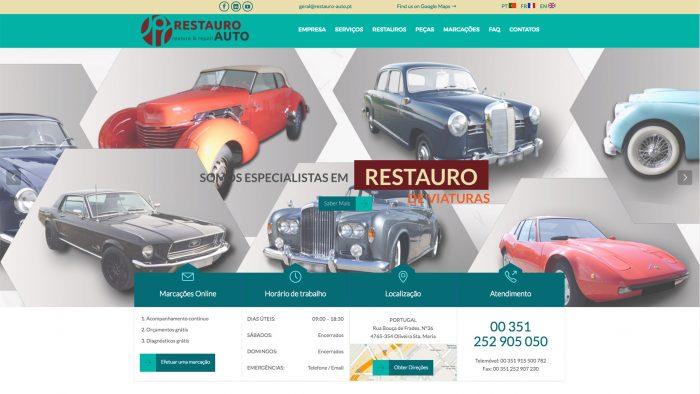 Especialistas em sites para restauro automóvel e stands