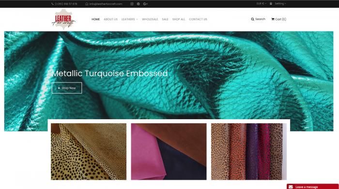 Site ecommerce venda online de todo tipo de peles - loja online