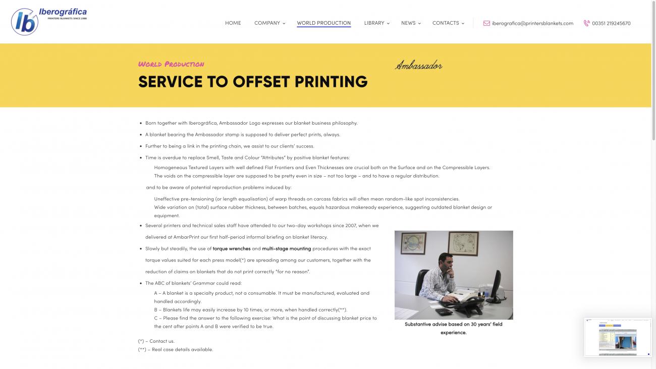 Sites para blanquetas gráficas - impressão offset em Lisboa
