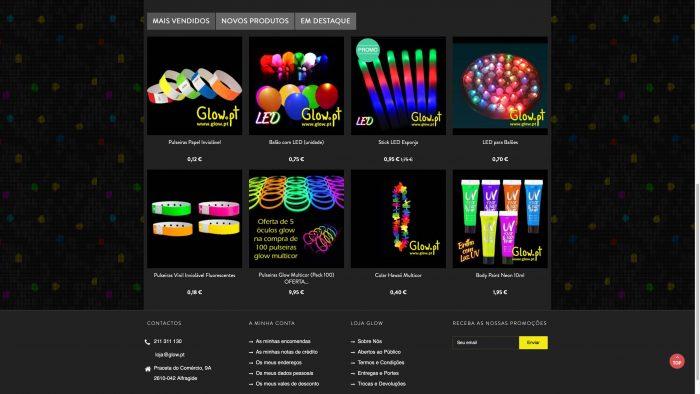 website artigos fluorescentes para festas