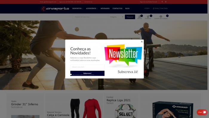 loja virtual site produtos desporto